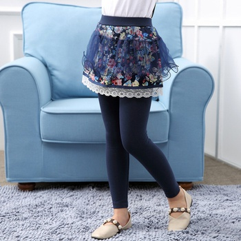 Pretty Floral Skirt Leggings