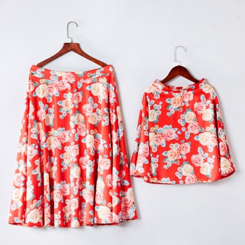 Allover Floral Print Matching Skirts