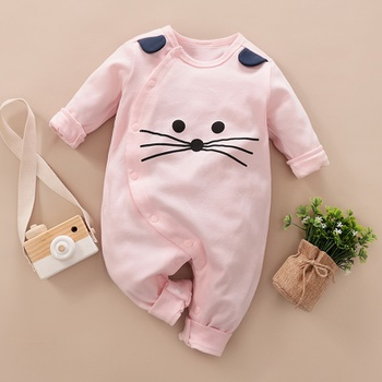 Baby Lovely Animal 3D Ear Long-sleeve Jumpsuit