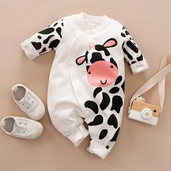 Baby Boy / Girl Cow Print Jumpsuit