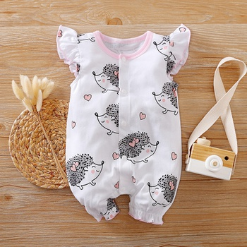 Baby Ruffled Hedgehog Allover Bodysuits