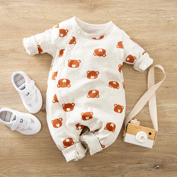 Baby Bear Allover Jumpsuit