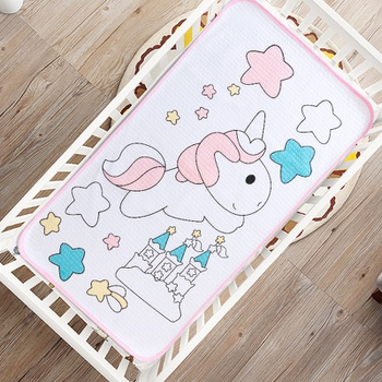 Cartoon Unicorn Waterproof Washable Baby Changing Pad