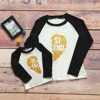 Sassy Letter Print Long-sleeve Matching T-shirt for Mom and Me