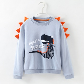 Trendy 3D Dinosaur Print Long-sleeve Sweatshirt