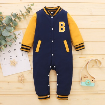 Baby Boy Sports Letter Jumpsuit