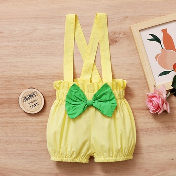 Baby Girl Floral straight Overalls Solid Baby Cotton Pants Romper