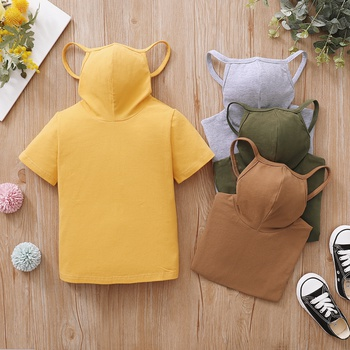 Toddler Boy casual Tee with Face Mask