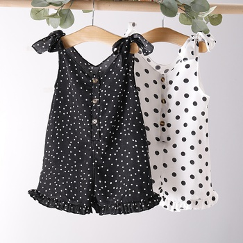 Baby / Toddler Fashionable Polka Dots Strappy Onesies