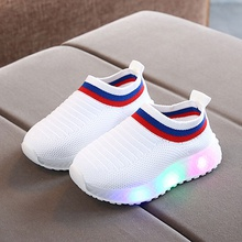 Toddler / Kid Fly- Knitted  LED Athletic Shoes