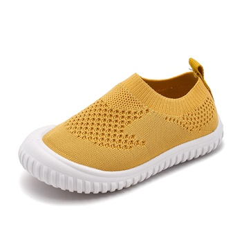 Toddler / Kids Breathable Knitted Surface Solid Casual Shoes