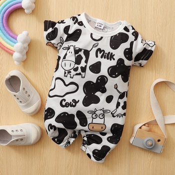 Baby Adorable Cow Print Bodysuit