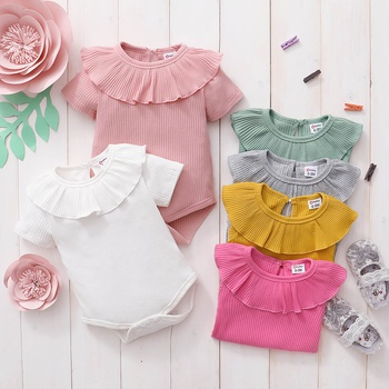 Baby Solid Knitted Romper