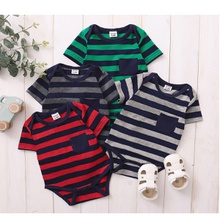 Baby Striped Pocket Design Romper