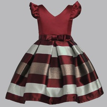 Trendy Striped Flare-sleeve Party Dresses