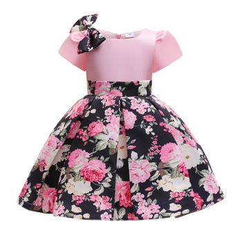 Pretty Kid Girl Elegant Floral Print Cheongsam & Costume & Party dress