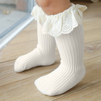 Baby / Toddler Lace Ruffled Antiskid Middle Socks