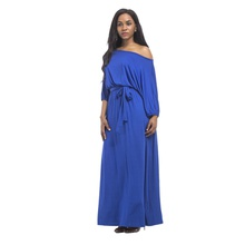 Solid Off shoulder X Maxi Dress