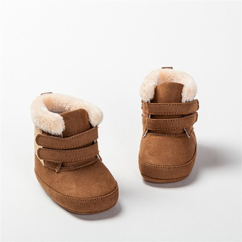 Baby / Toddler Solid Fluff Magic Stick Snow Boots