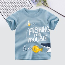 Baby/Toddler Boy's Letter and Fish Tee
