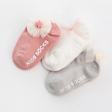 3pcs Baby / Toddler Letter Print Flower Bow Butterfly Decorative Sock