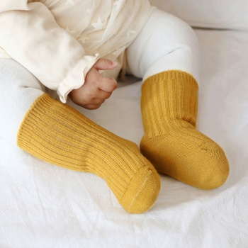 Baby / Toddler Casual Solid Fleece Warm Middle Stocking