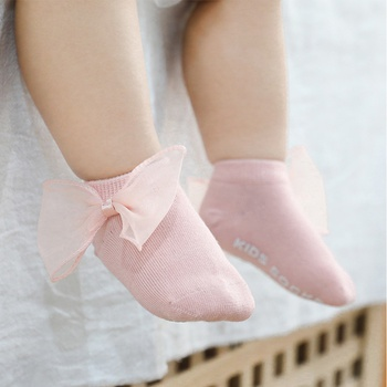 Baby / Toddler Solid Tulle Bowknot Decor Socks
