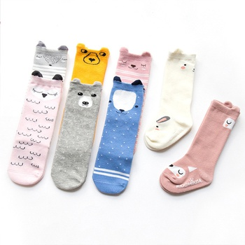 Baby / Toddler Soft Cartoon Animal  Print Striped Letter Socks