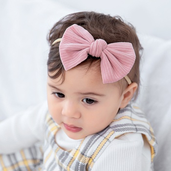 Solid Bowknot Hairband for Girls