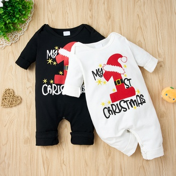 Baby Christmas Letter Jumpsuit