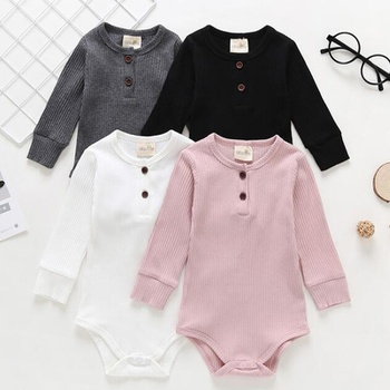 Baby Solid Front Button Bodysuit