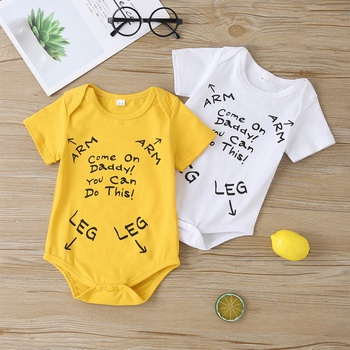 Baby Letter LEG and ARM Print Bodysuit