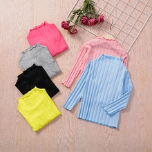 Baby / Toddler Colorful Solid Long-sleeve Tee