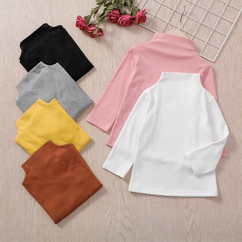 1pc Cotton Long-sleeve Baby Girl casual Tee