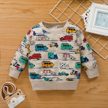 Baby / Toddler Car Pattern Long-sleeve Pullover
