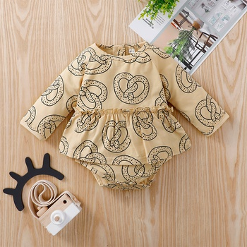 Baby Allover Painting Long-sleeve Dress Romper