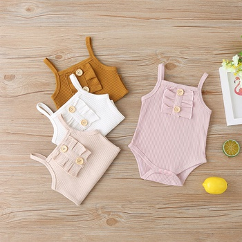 Baby Solid Strappy Bodysuit