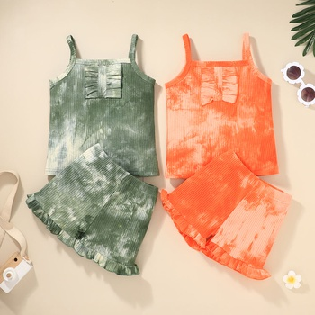 2-piece Baby / Toddler Striped Solid Camisole and Shorts Set