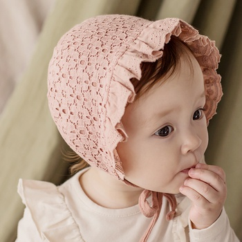 Baby / Toddler Ruffled Floral Lace Hat