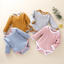 Baby Solid Long-sleeve Bodysuit