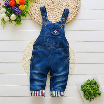 Baby / Toddler Trendy Stripped Denim Overalls