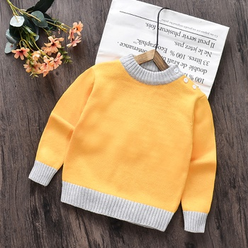 Baby / Toddler Solid Knitted Casual Sweater