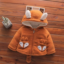 Baby / Toddler Cartoon Fox Fluff Hooded Coat