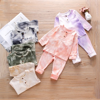 2-piece Baby / Toddler Tie-dye Long-sleeve Top and Pants Set
