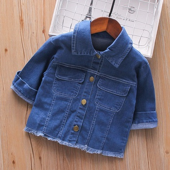 Baby / Toddler Chic Polo Collar Denim Jacket
