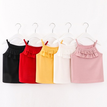 Baby / Toddler Girl Ruffled Solid Camisole
