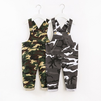 Toddler Boy Chic Camouflage Overalls