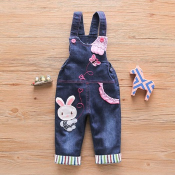 Baby Girl Animal & Rabbit straight Overalls