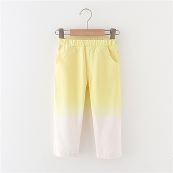 Toddler Chic Tie Dye Yellow Casual Pants