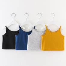 Baby / Toddler Girl Casual Solid Crop Camisole Top